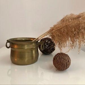 Vintage Brass Planter Pot